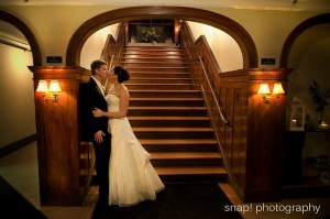A couple at our Grand Staircase