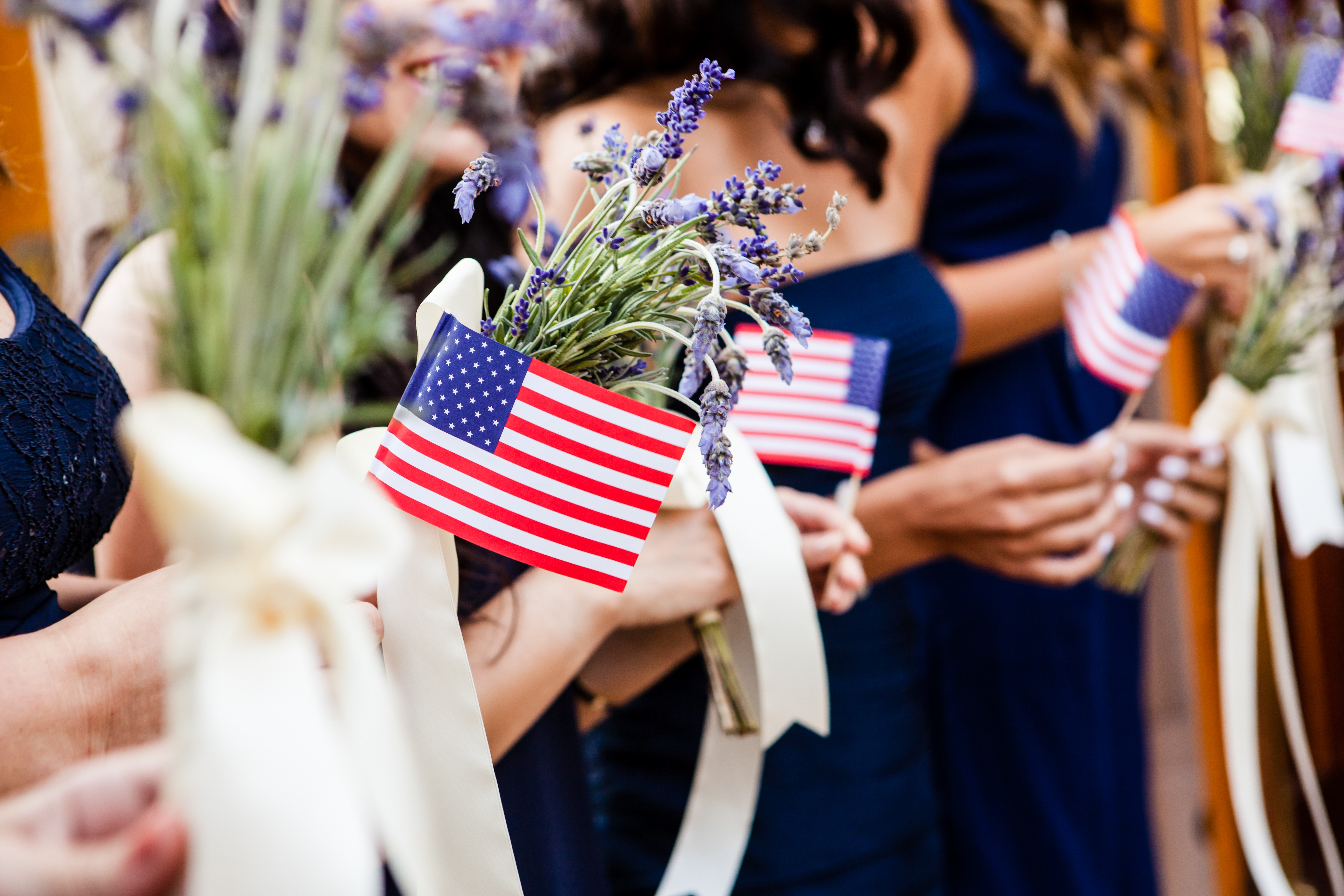 American Flag Wedding Red White Blue Kinney Bungalow