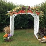 Arbor decorated in fall