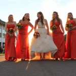 A bridal party outside the Bunaglow