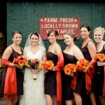 Bridal party at Sunset Farm