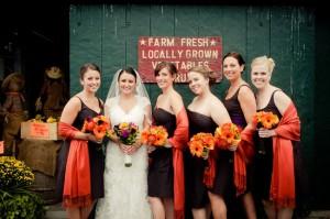 Bridal party at Sunset Farm
