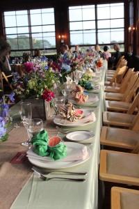 A head table at a wedding