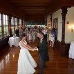 A couple enjoys their first dance