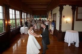 A couple enjoys their first dance